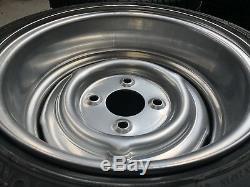 7x 13 JBW Smoothie Steel Wheels + Yokohama tyres Classic ford lotus ex display