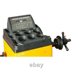 806-112A 70D Tire Changer Wheel Balancer Machine Combo Rim Clamp 14-28