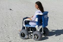 Beach Wheelchair, 12 Balloon Tires for Soft Sand