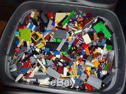 Bulk LEGO LOT! 10 pound box of Bricks, parts, Pieces Tires. Become a lego master