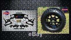 Club Car DS Golf Cart 6 A-Arm Lift Kit + 12 Wheels and 23 Tires 1982-2003