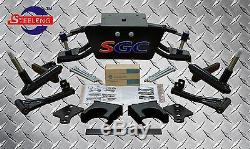 Club Car DS Golf Cart 6 A-Arm Lift Kit + 12 Wheels and 23 Tires (1982-2003)