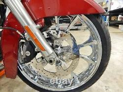 Coastal Moto Largo 21 X 3.5 Front Wheel & Tire Chrome Abs 08-17 Harley Flhx