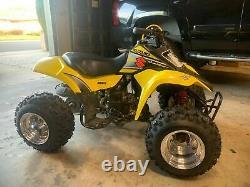 DWT Polished 8 Front Rear Wheels Rims Snow Hog 18 6.5 8 Tires Suzuki LT80
