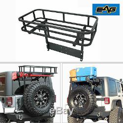 EAG Fits 97-18 Jeep Cargo Rack for Rear Bumper with Tire Carrier