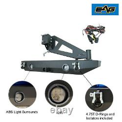 EAG Rear Bumper with Tire Carrier With Linkage Fit 07-18 Jeep Wrangler JK