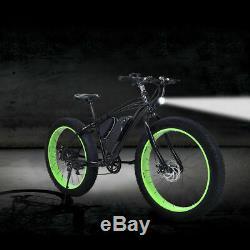 Electric Fat Tire Bike Mountain Snow Beach Bicycle E-Bike Lithium Battery 350W