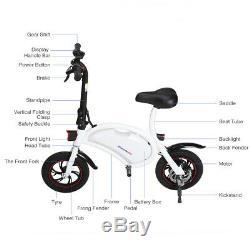 Electric Folding E-bike 20 Km/h Electric Bike Collapsible Bicycle 250W 12 tire