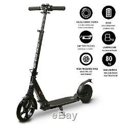 Electric Scooter for Teens, Folding 8Tire, 3 Adjustable Heights Black