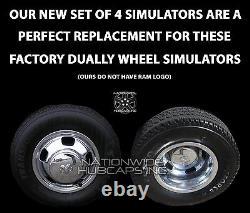 Fits DODGE RAM 3500 2003-19 Chrome 17 Dually Wheel Simulators Dual Skins Liners