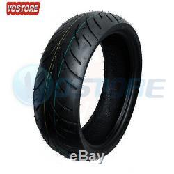 Front + Rear Motorcycle Tires 120/70-17 & 180/55-17 For Honda Suzuki Kawasaki