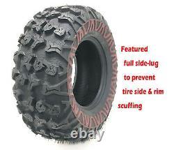 Full Set Free Country ATV/UTV Tires 25x8-12 & 25x10-12 /8PR withSide Scuff Guard