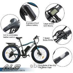 Gplus 26 Fat Tire Electric Bicycle 500W 36V e-Bike Mountain Beach City eBike