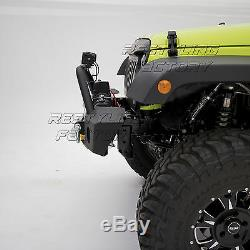 JK Front Bumper with OE Fog Light holes & Winch Plate for 07-18 Jeep Wrangler