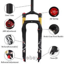 KRSEC 264.0 Fat Bike Air Suspension Fork 4.0 Tire MTB Snow Bicycle 1-1/8 Forks