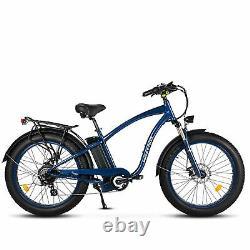 MaxFoot MF-18P Retro 750W Electric Bicycle 26 Fat Tire Beach Cruiser E-Bike