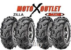 Maxxis Zilla Atv Tires 25x8-12 25x10-12 Utv Set of 4 25 6 Ply 2 Front Rear