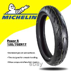 Michelin Pilot Power 5 120/70ZR17 F 190/55ZR17 R Radial Motorcycle Tires Set