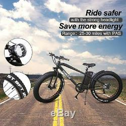 NAKTO Electric Bicycle 26 Fat Tire Electric Bike 300W36V10AH Lithium Battery