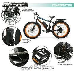 New 26 500W 13AH Fat Tire Electric Bicycle Mountain Snow Beach EBike 7 Speed