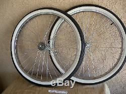 New 26''x 2.125 Heavy Duty Spokes Wheel Set With Tires & Tubes For Cruiser, Etc