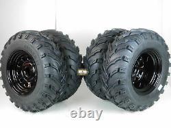 New HONDA Rancher ATV 420 (SRA) MASSFX MS Tires & Wheel kit 25 ITP Delta Black