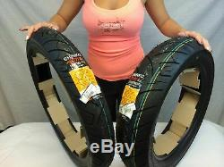 New Harley Sportster Tire Set Shinko 777 100/90-19 Front & 130/90-16 Rear