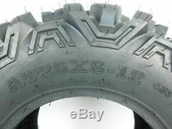 New MASSFX KT ATV Four Wheeler Front Rear Tires (4)Set 2 25x10-12 and 2 25x8-12
