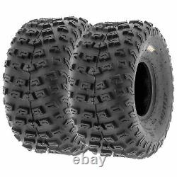 Pair of 2, 22x10-8 22x10x8 Quad ATV All Terrain AT 6 Ply Tires A030 by SunF
