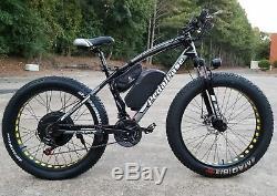 Pedalease Big Cat 48v 1500w Fat Tire Electric Mountain Bike w Light Fenders