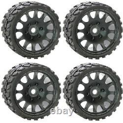 Powerhobby Raptor Belted Tires / Wheels w 17mm Hex (4) Sport Traxxas T-Maxx