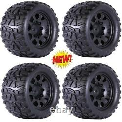Powerhobby Raptor XL Belted Tires / Viper Wheels (4) Traxxas X-Maxx 6S / 8S 24MM
