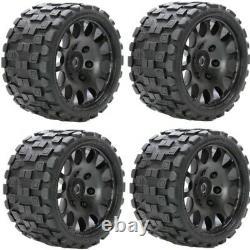 Powerhobby Scorpion Belted Monster Truck Tires / Wheels w 17mm Hex (4) Sport