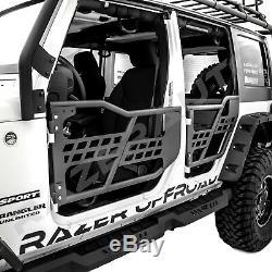 Rock Crawler Body 4x4 Armor Front+Rear Tubular 4 Door for 07-18 Jeep Wrangler JK