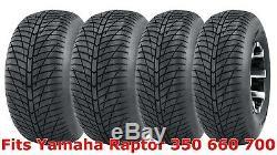 Set 4 21x7-10 & 20x10-9 Yamaha Raptor 350 660 700 Hi-speed ATV tires