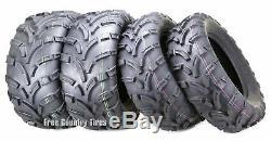 Set 4 WANDA ATV Tires 25x8-12 25x8x12 Front & 25x10-12 25x10x12 Rear 6PR Mud