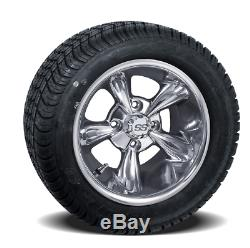 Set Of 4 10 Godfather Golf Cart Wheels On Low Profile Tires Combo