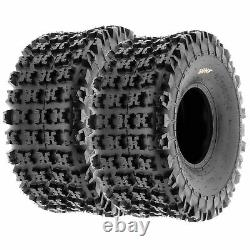 Set of 4, 21x7-10 & 20x10-9 Replacement ATV All Trail 6 Ply Tires A027 by SunF