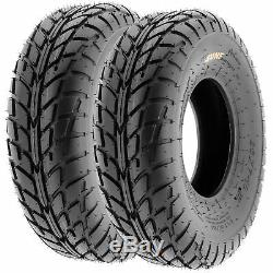 Set of 4, 21x7-10 & 20x10-9 Replacement ATV UTV 6 Ply Tires A021 by SunF