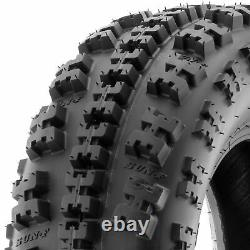 Set of 4, 22x7-10 & 22x10-9 Replacement ATV UTV 6 Ply Tires A027 by SunF