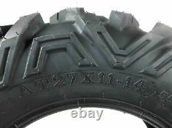 Set of 4 MASSFX ATV/UTV Tires 27x9-14 Front & 27x11-14 Rear 6PR Deep Tread 6 ply