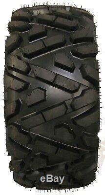 Set of 4 New ATV Tires AT 26x9-12 Front & 26x10-12 Rear 6PR P350 10166/10167