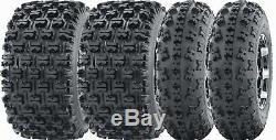 Set of 4 Sport ATV Tires 23x7-10 23x7x10 Front & 22x11-10 22x11x10 Rear GNCC