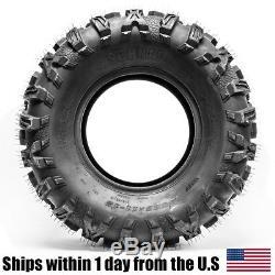 Set of 4 UTV ATV Tires 26x9-12 26x9x12 Front 26x11x12 26x11-12 Rear P390 6PLY