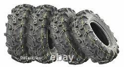 Set of 4 WANDA Premium ATV UTV Tires 27x9-12 27x9x12 6PR Super Lug Mud