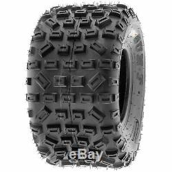 SunF 18x10-8 ATV Tires 18x10x8 MX XC Tubeless 6 PR A035 Set of 2