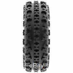 SunF 21x7-10 20x10-9 All Terrain ATV Race Tires 6 PR Tubeless A027 Set of 4