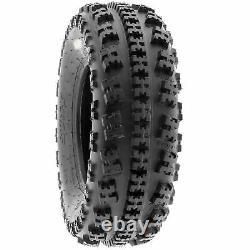SunF 21x7-10 ATV Tires 21x7x10 AT Race Tubeless 6 PR A027 Set of 2
