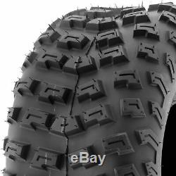 SunF 22x10-8 Rear ATV Tires 22x10x8 Knobby Tubeless 6 PR A030 Set of 2
