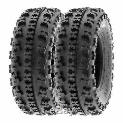 SunF 22x7-10 22x10-9 All Terrain ATV Race Tires 6 PR Tubeless A027 Bundle